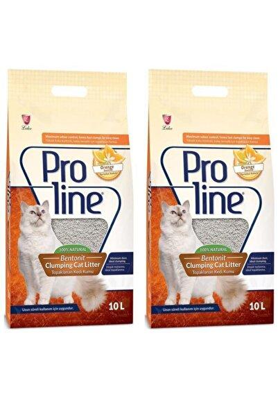 Pro Line Portakal Kokulu İnce Taneli Kedi Kumu 10 lt x 2 Adet