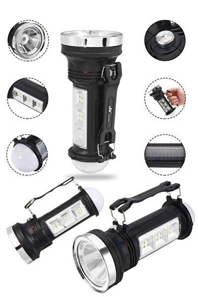 yopigo Gkn-169 Şarj Edilebilir Güneş Enerjili 3 Modlu Kamp Feneri Lamba Işıldak El Feneri Masa Lambası