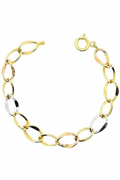 CiGOLD 14 Ayar Altın Taşsız Bileklik 20k1blk0478066065