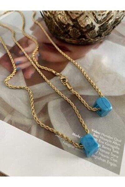Accessories Moda Lukka Kadın Altın Renkli Nostalji Burgu Kolye Ml3400