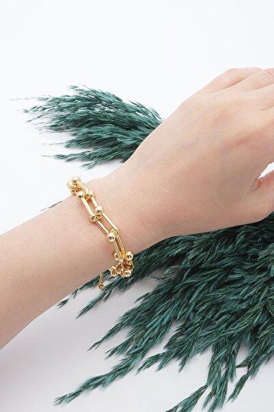 Marjin Kadın Blanca Zincir Model Altın Renkli Bileklikaltın