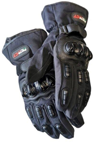 AnkaShop Motosiklet Eldiveni Kışlık Su Geçirmez Full Koruma Telefon 3d Özellikli Yünlü Motor Eldiven