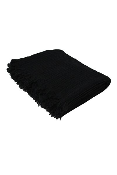 Buldans Siyah  Yuma Throw Koltuk Şalı 30x170