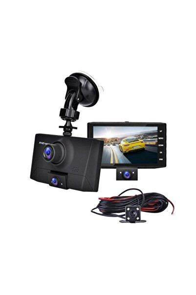 Kingboss Kıngboss 4 Inç 3 Kameralı Araç Içi Kamera (ön Arka Araç Içi) 1080p Fhd