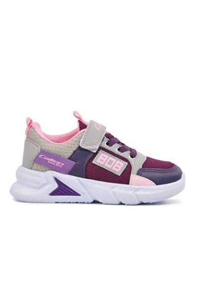 Callion 099 Mor-buz-pembe Çocuk Bantlı Spor Ayakkabı
