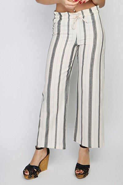 Rodi Kadın Çizgili Lastik Bel Bol Paça Pantolon Rd21yb010155