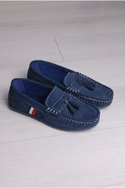 Rıdvan Çelik Erkek Çocuk Lacivert Püsküllü Ayakkabı