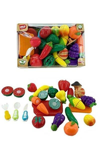 BİRLİK TOYS 41 Parça Kesilebilen Meyve Sebzeler Manav Seti Oyuncak
