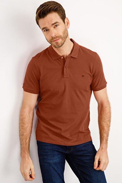 İgs Erkek Kiremit Modern Fit Polo Yaka T-shirt
