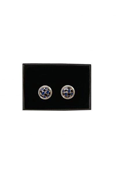 ALTINYILDIZ CLASSICS Erkek Siyah-Lacivert Klasik Gömlek Kol Düğmesi