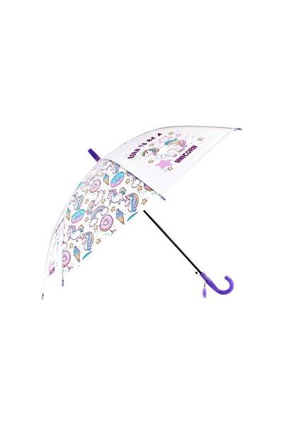 buradanaldım Çocuk Şemsiyesi Düdüklü Mor Unicorn Model