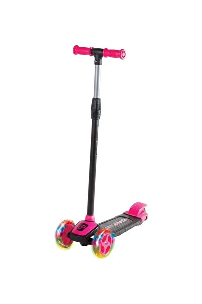Furkan Oyuncak Kız Çocuk Pembe Cool Wheels Led Işıklı 3 Tekerlekli Yükseklik Ayarlı Twist Scooter