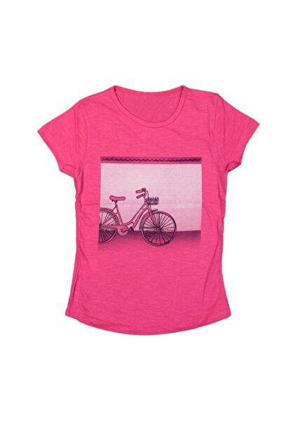 bebegen Taşlı Fuşya Kız Çocuk Tshirt
