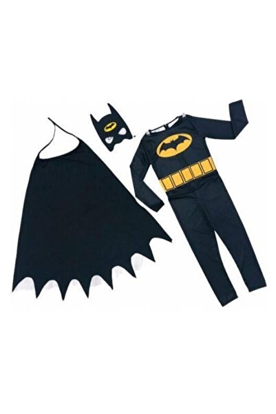 Batman Süper Kahraman Maskeli Çocuk Kostümü Kara Şövalye