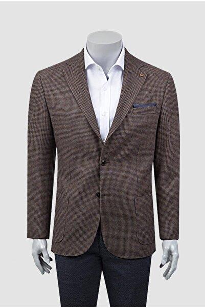 Damat Damat Regular Fit Tarçın Desenli Kumaş Ceket