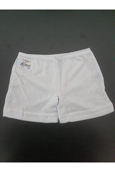 Berrak Kız Çocuk Külot Beyaz Boxer 6'lı Paket