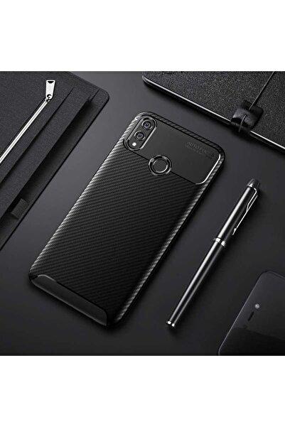 Huawei Honor 8x Kılıf Karbon Tasarım Parmak Izi Yapmaz Dayanıklı Silikon
