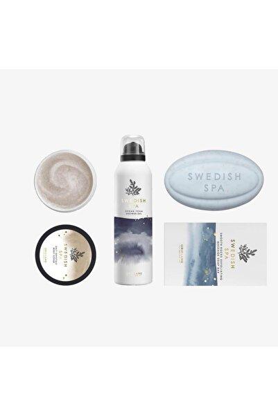 Oriflame Swedish Spa Arındırıcı Masaj Sabunu + Tuz Kristalleri Içeren Vücut Arındırıcısı + Köpük Duş Jeli