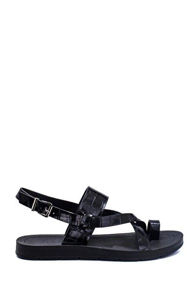Derimod Kadın Kroko Baskılı Casual Sandalet
