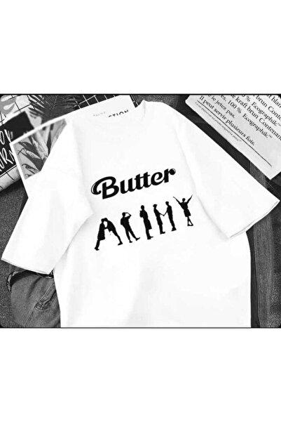 Köstebek Favoriconsept - Bts Butter Army Beyaz Tişört