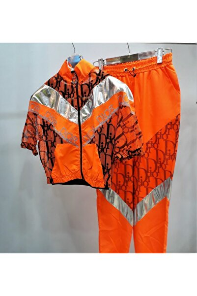 İREMBUTİKK Paraşüt Kumaş Taşlı Ceket&eşofman Takım