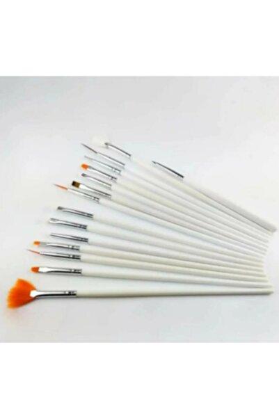 MAQYA KOZMETİK Lavider-nailart 15'li Tırnak Süsleme Fırçası Beyaz/izla Desen Fırçası(h-mt)