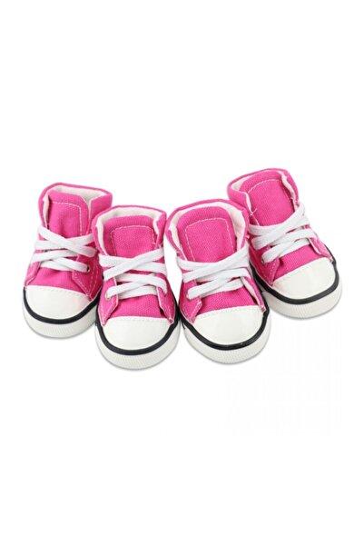 RASONİ Köpek Kumaş Bot Ayakkabısı Pembe Renk