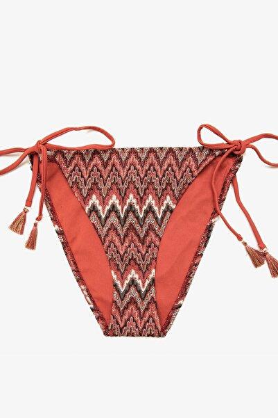 Koton Kadın Kiremit Desenli Bikini Altı 0YAK88047BM