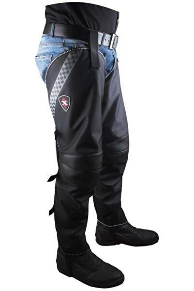 AnkaShop Motosiklet Bacak Örtüsü Korumalı Cırt Ayarlı Kolay Giyim Motor Diz Örtüsü Soğuk Rüzgar Yağmur Koruma