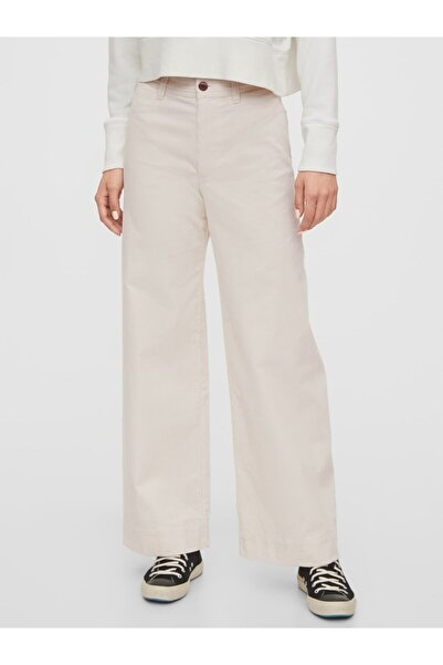 GAP Kadın High Rise Wide-leg Kadife Pantolon