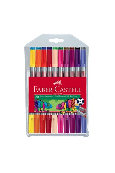 Faber Castell Faber-castell 20 'li Çift Taraflı Keçeli Kalem