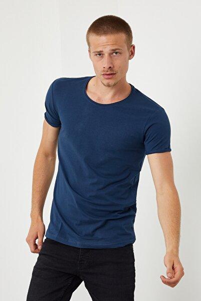 DENSMOOD Kısa Kollu Düz Renk T-shirt