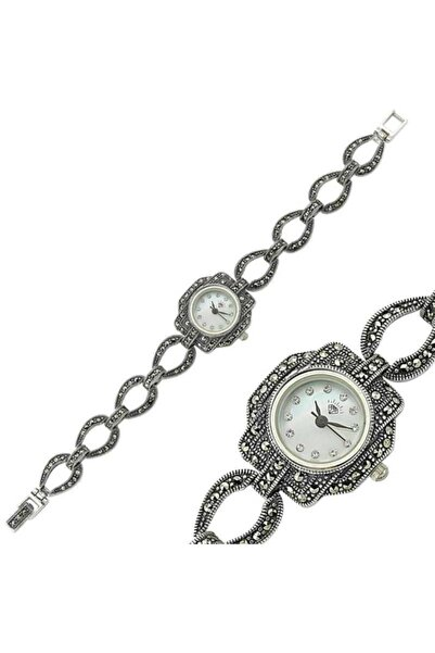 Gumush Gümüş Markazit Taşlı Bayan Saat