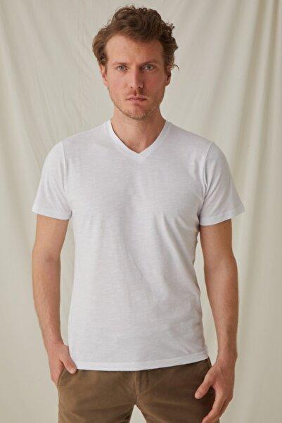 Silk and Cashmere & More Pamuk V Yaka T-shirt