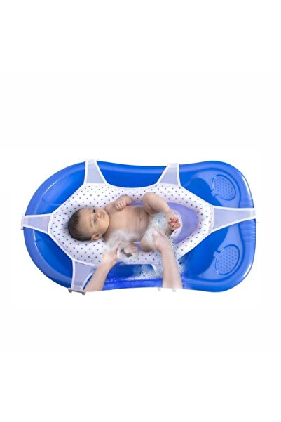 Sevi Bebe Lüks Bebek Banyo Filesi Art-689 Lacivert Puantiye