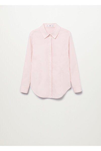 MANGO Woman Kadın Pastel Pembe Gömlek
