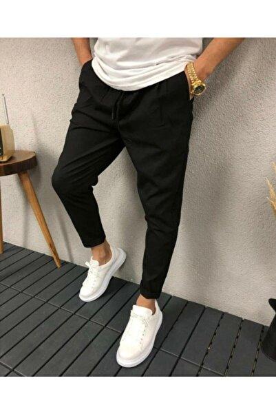 trendvadi Erkek Siyah Jogger Pantolon