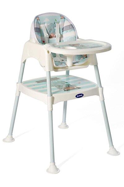 GUİMO Yeşil Fil Desenli Lüx Mama Sandalyesi