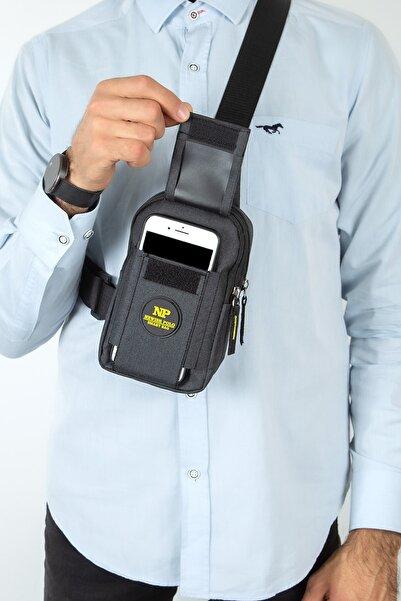 Av A Dos Unisex Keten Telefon Bölmeli Bel Ve Çapraz Omuz Çanta Göğüs Seyahet Günlük Bodybag