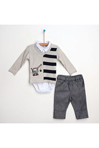 For My Baby Kış Erkek Bebek Gömlek Pantolon Kazak