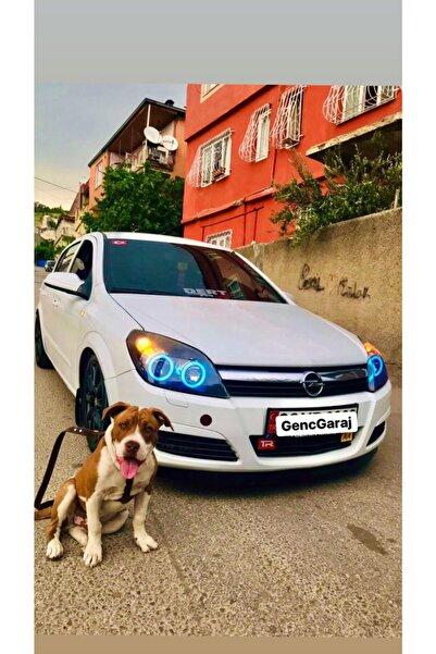 GENÇ GARAJ Opel Astra H 4lü Rgb 120mm 100mm Gnc Far Içi Angel Led