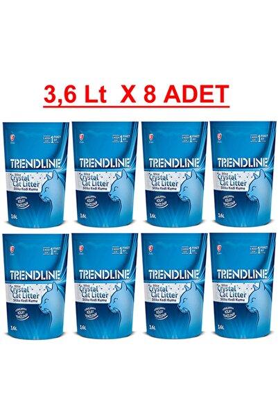 Trendline Kristal Silika Kedi Kumu - 3.6 Lt X 8 Adet ( 8 Li )