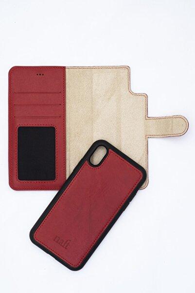 naft Mıknatıslı Telefon Cüzdanı - Iphone Xs Max - Gerçek Deri