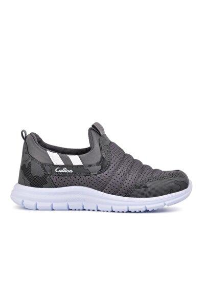 Callion 1006 Füme-kamuflaj Hafif Bağcıksız Çocuk Spor Ayakkabı