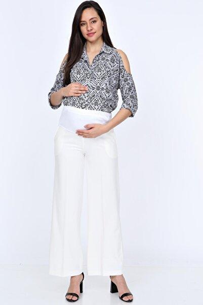 Işşıl Hamile Bol Paça Kumaş Pantolon