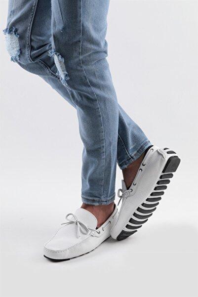 Buffalo Erkek Beyaz Günlük Deri Ayakkabı