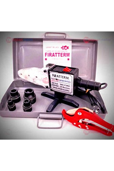 FIRAT Term Pvc Plastik Boru Kaynak Makinası 2500w Çantalı - Set2