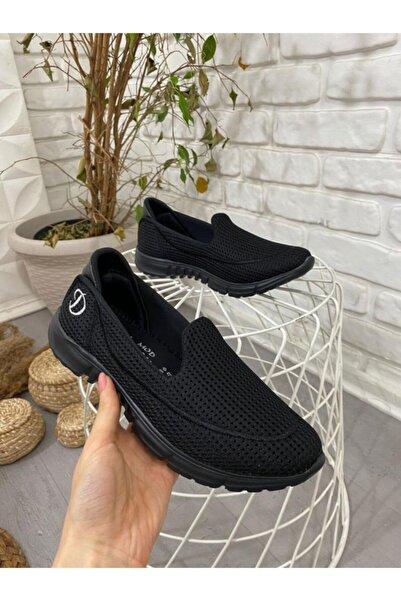 ESPARDİLE Enox Siyah Streç Babet Ayakkabı