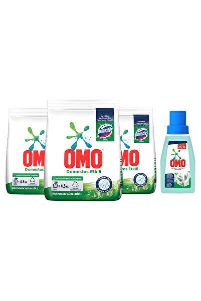 Omo Toz Çamaşır Deterjanı Domestos Etkili 30 Yıkama 4.5 Kg X 3 Adet