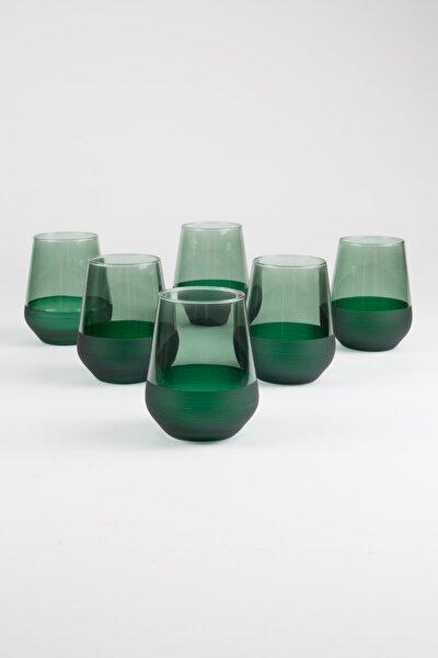 Rakle Matte 6'lı Su Bardağı Seti Yeşil 425 Cc